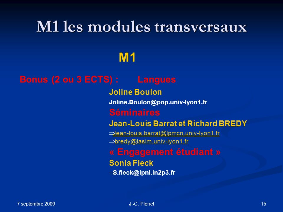 M1 les modules transversaux