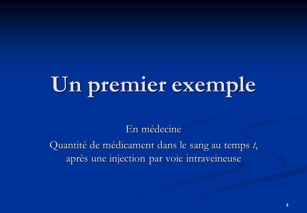 Un premier exemple En médecine