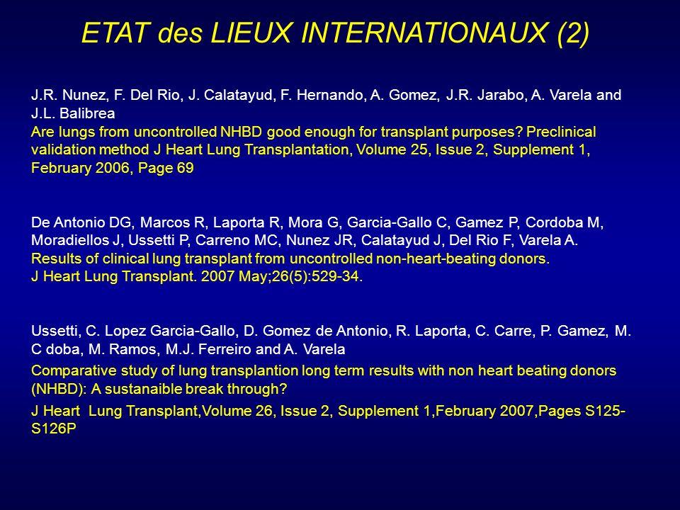 ETAT des LIEUX INTERNATIONAUX (2)