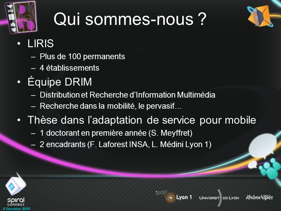 Qui sommes-nous LIRIS Équipe DRIM