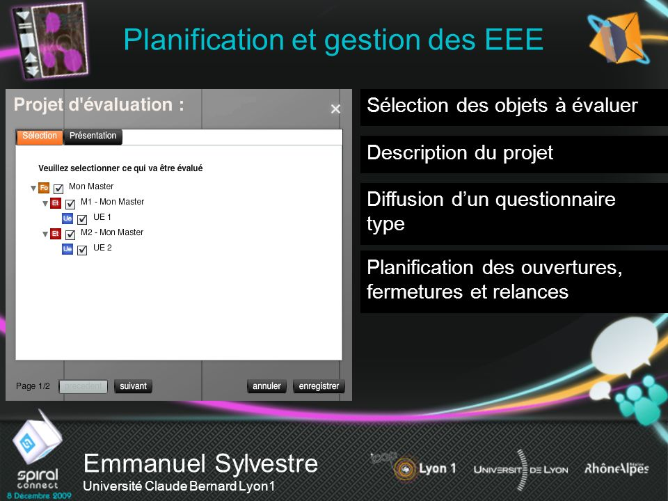Planification et gestion des EEE