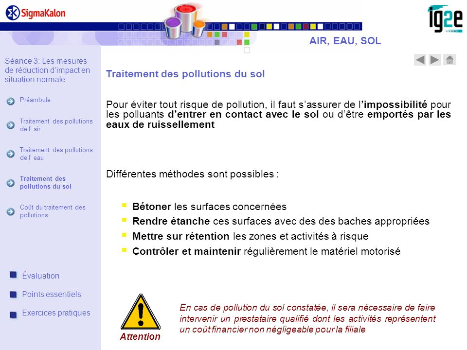 Traitement des pollutions du sol