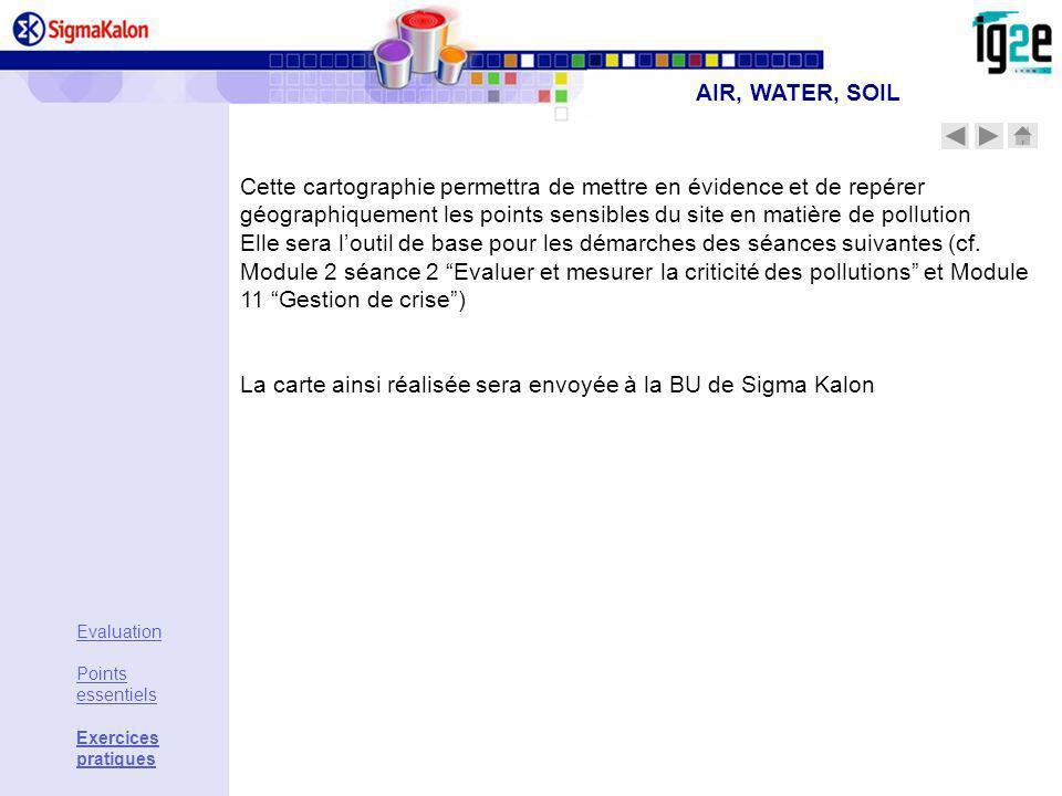 La carte ainsi réalisée sera envoyée à la BU de Sigma Kalon