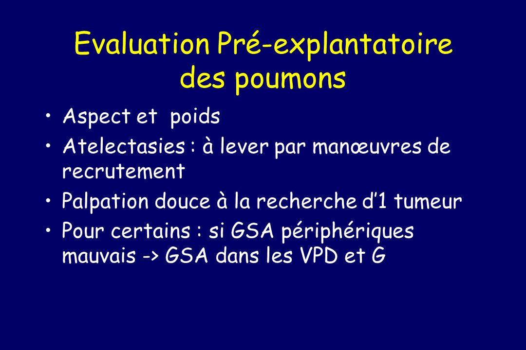 Evaluation Pré-explantatoire des poumons