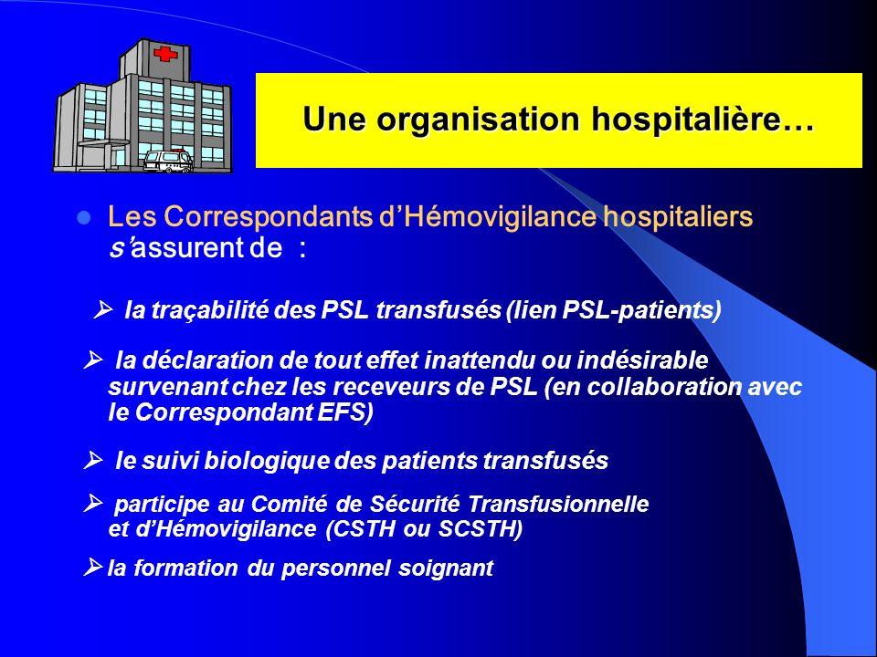 Une organisation hospitalière…