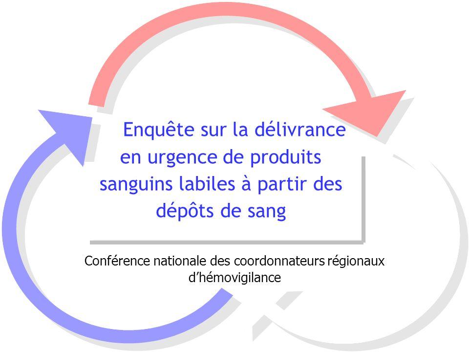 Conférence nationale des coordonnateurs régionaux d'hémovigilance
