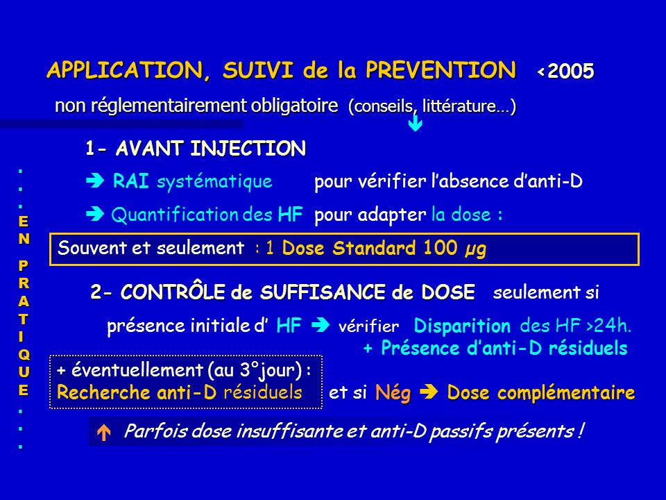 APPLICATION, SUIVI de la PREVENTION <2005 non réglementairement obligatoire (conseils, littérature…)
