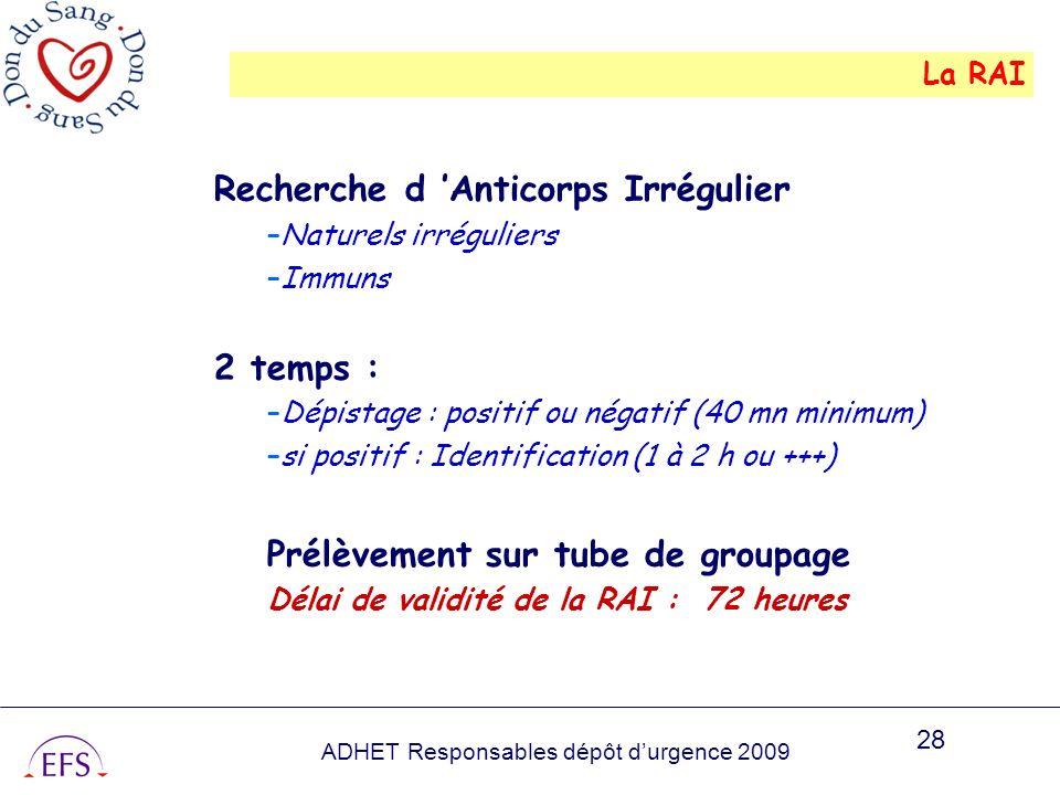 Recherche d 'Anticorps Irrégulier