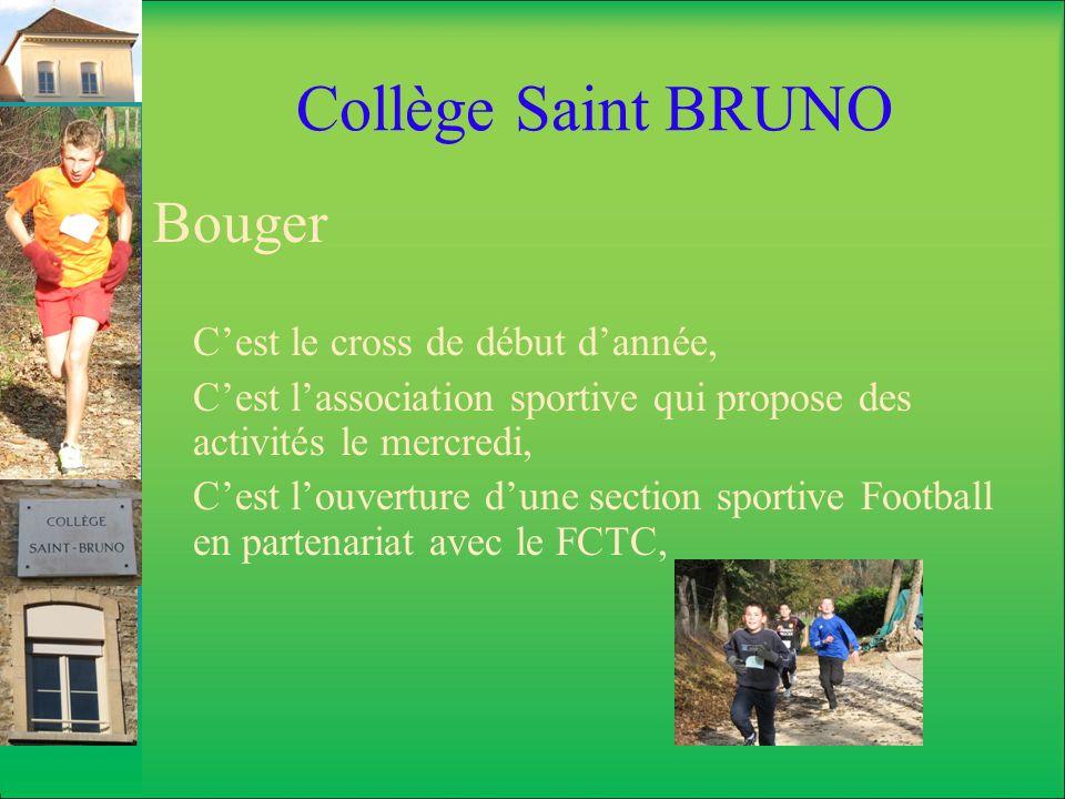 Collège Saint BRUNO Bouger C'est le cross de début d'année,