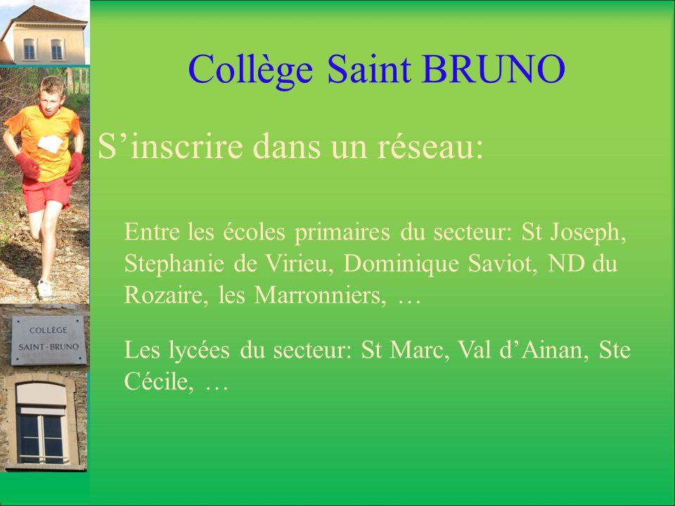 Collège Saint BRUNO S'inscrire dans un réseau: