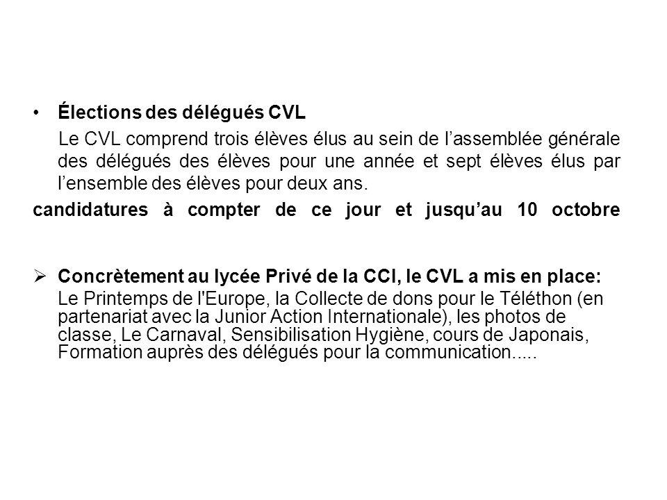 Élections des délégués CVL