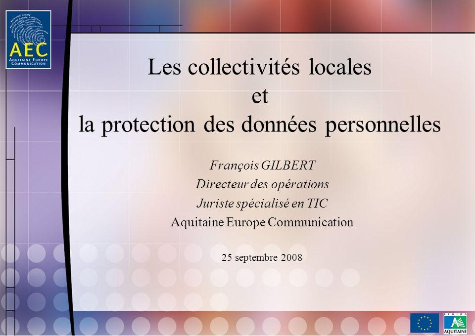 Les collectivités locales et la protection des données personnelles