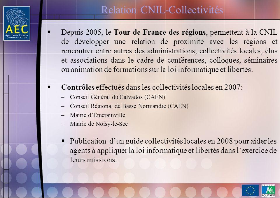 Relation CNIL-Collectivités