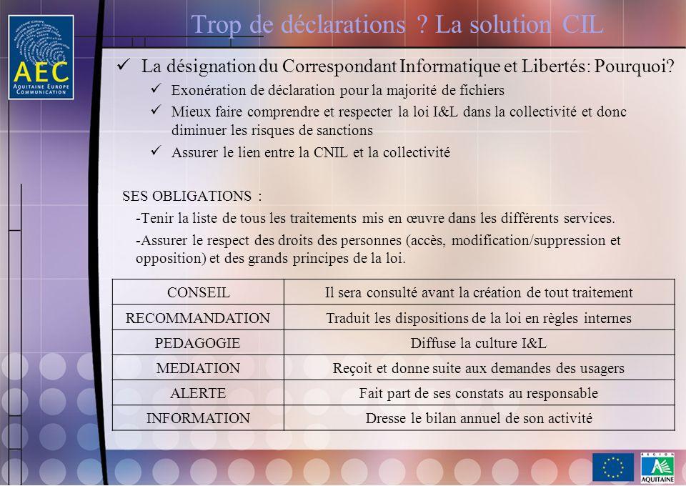 Trop de déclarations La solution CIL