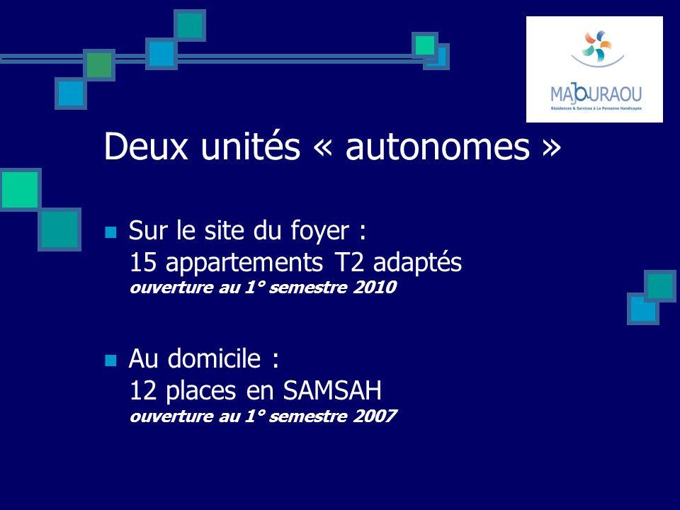 Deux unités « autonomes »