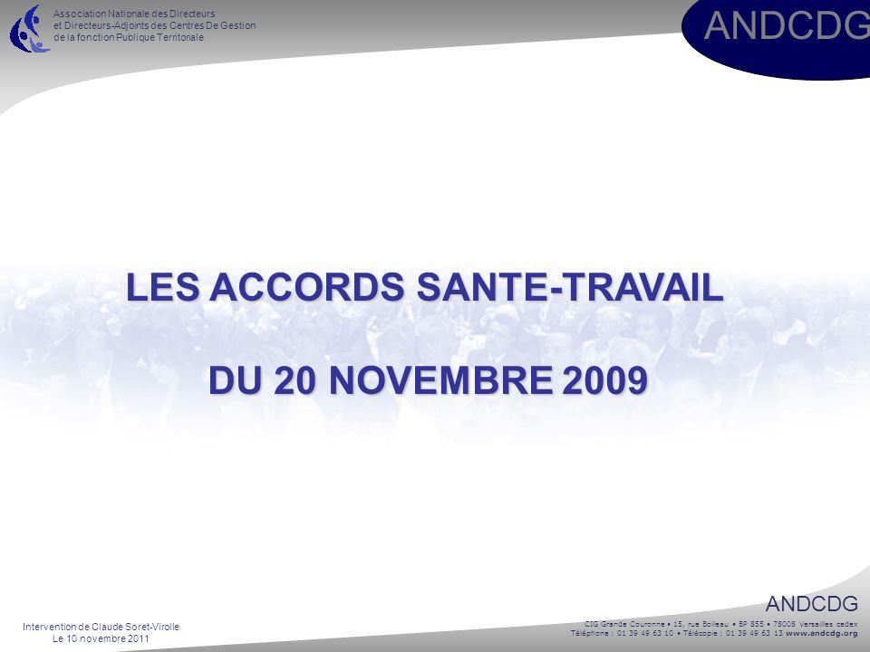 LES ACCORDS SANTE-TRAVAIL