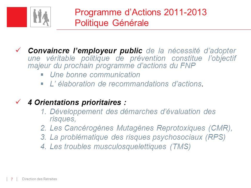 Programme d'Actions 2011-2013 Politique Générale