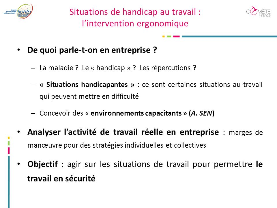 Situations de handicap au travail : l'intervention ergonomique