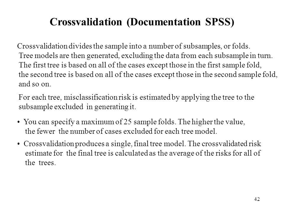 Crossvalidation (Documentation SPSS)