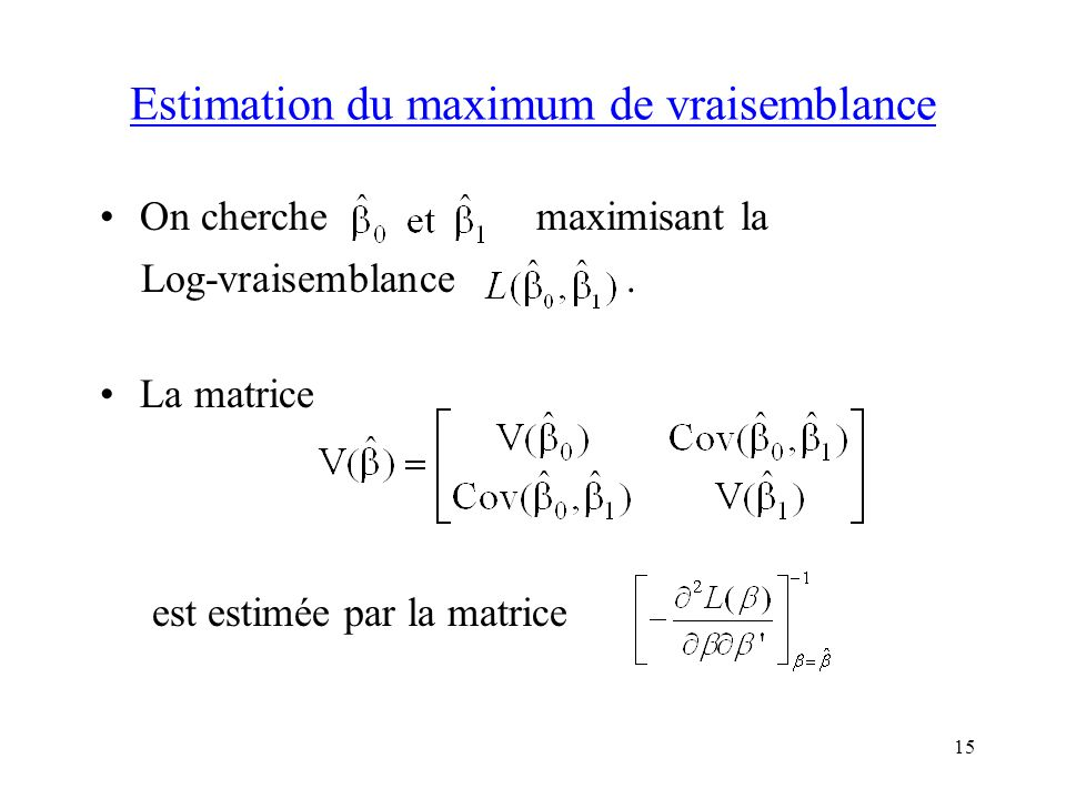 Estimation du maximum de vraisemblance
