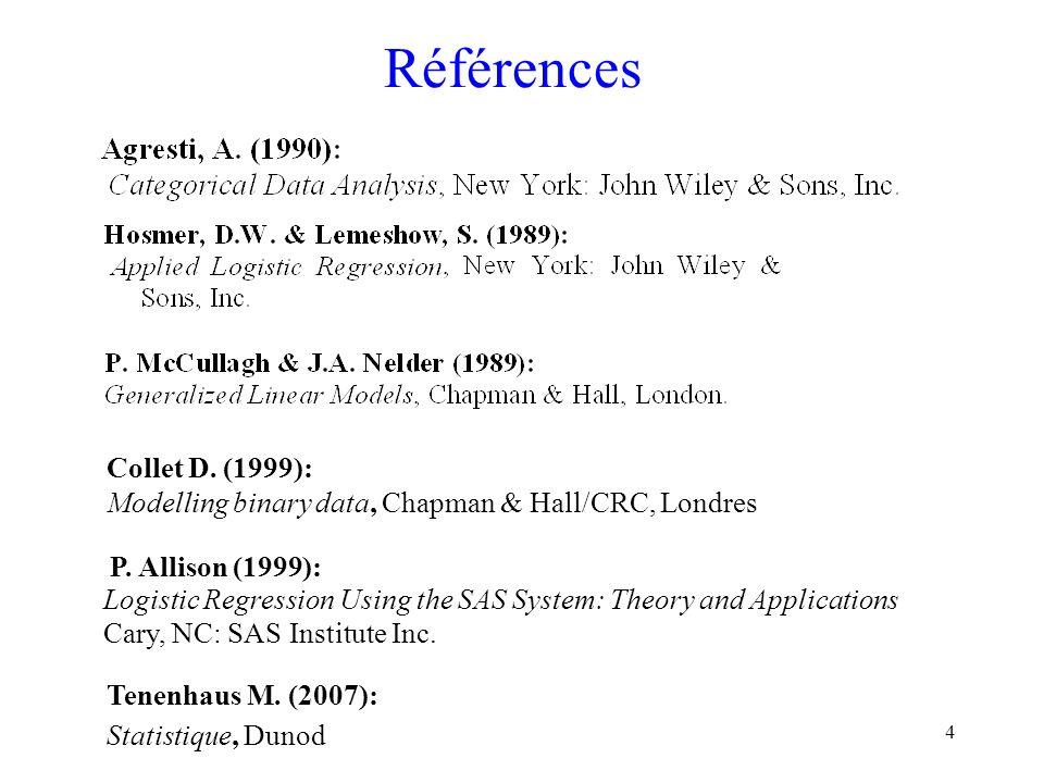 Références Collet D. (1999):