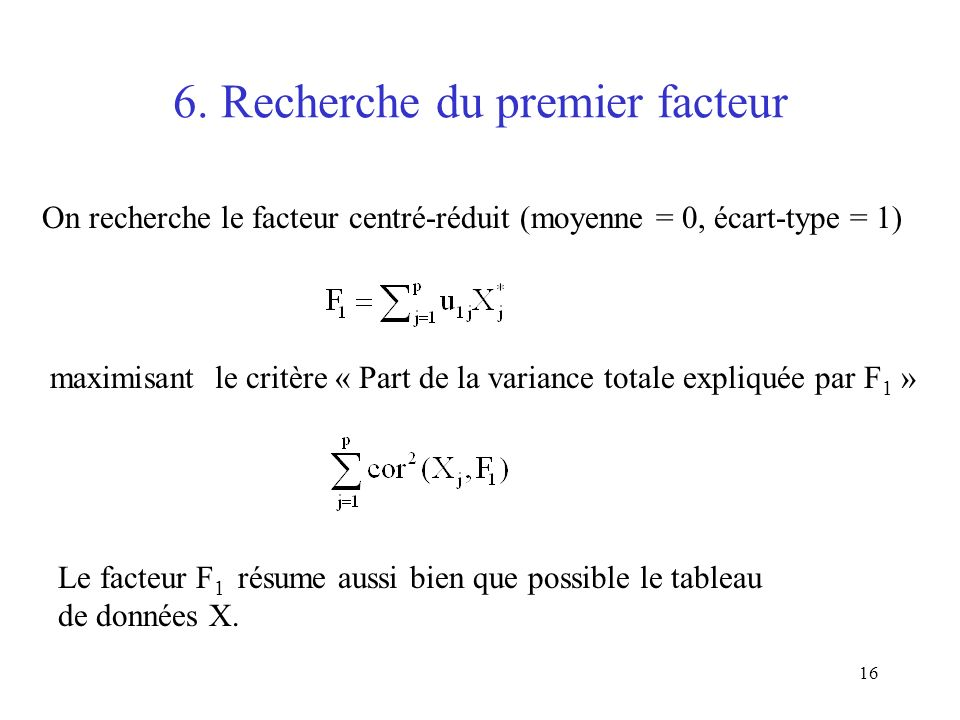 6. Recherche du premier facteur