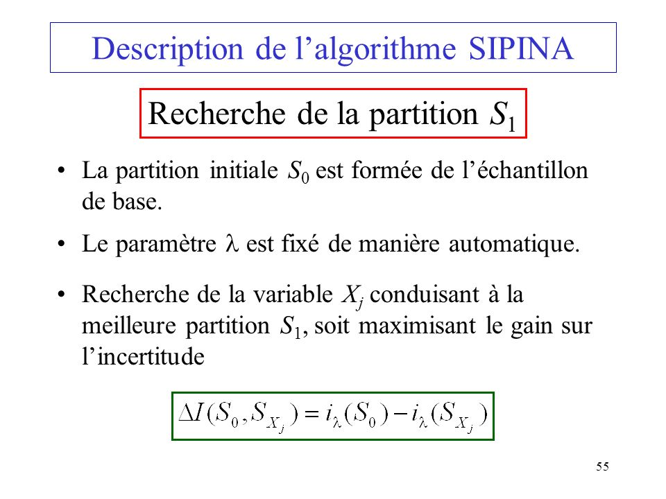 Description de l'algorithme SIPINA