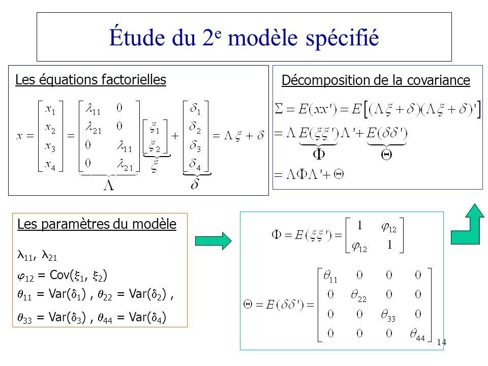 Étude du 2e modèle spécifié
