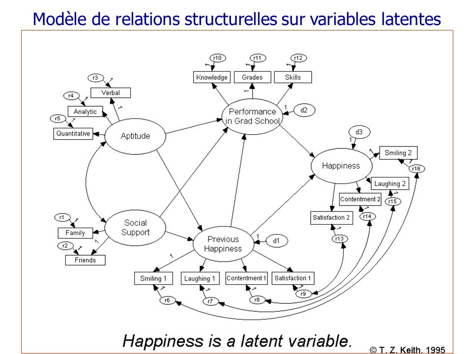 Modèle de relations structurelles sur variables latentes