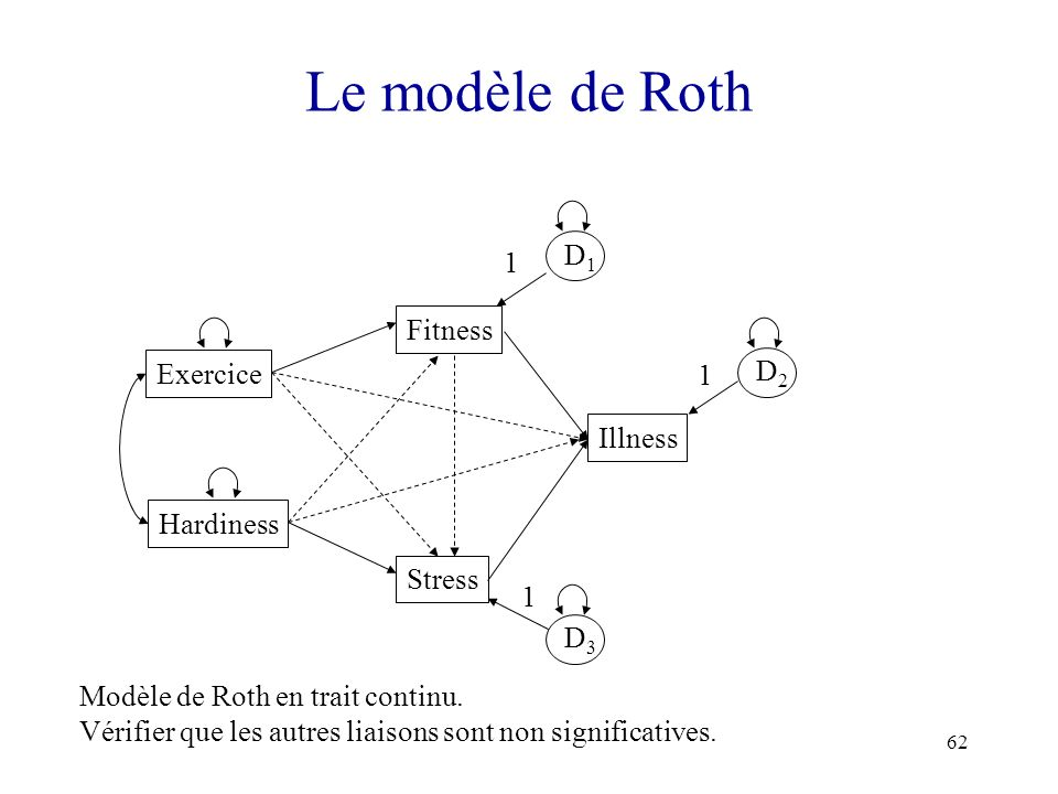 Le modèle de Roth D1 1 Fitness Exercice D2 1 Illness Hardiness Stress