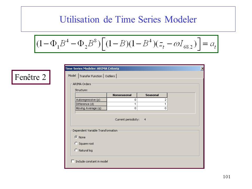 Utilisation de Time Series Modeler