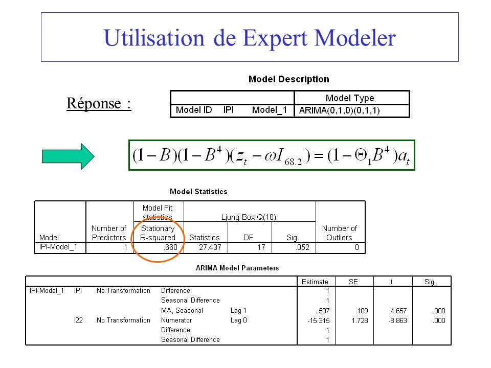 Utilisation de Expert Modeler