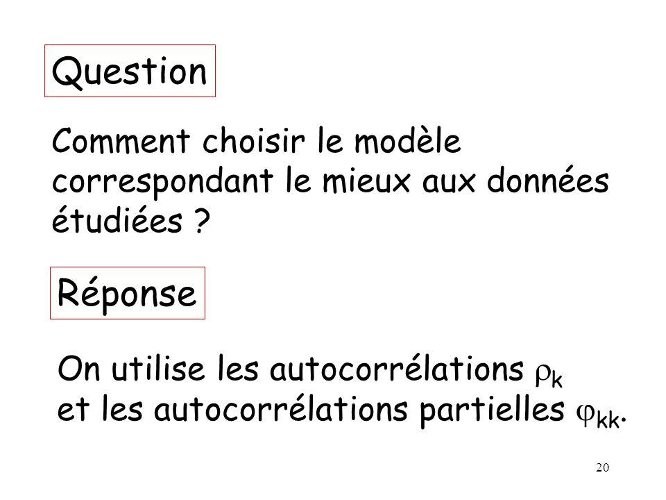 Question Réponse Comment choisir le modèle