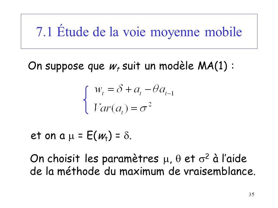 7.1 Étude de la voie moyenne mobile