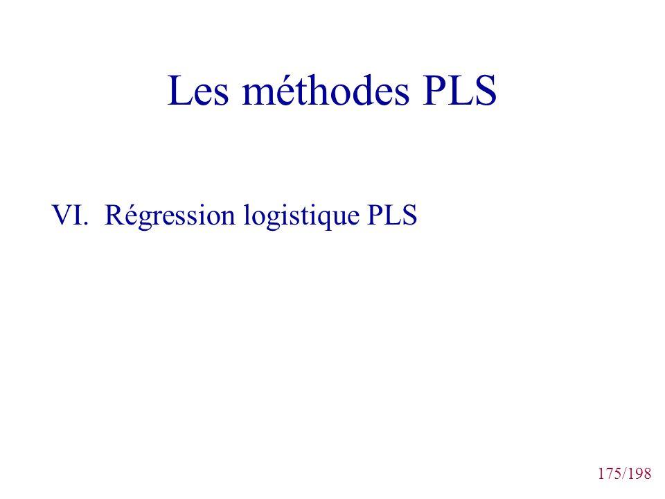 Les méthodes PLS VI. Régression logistique PLS