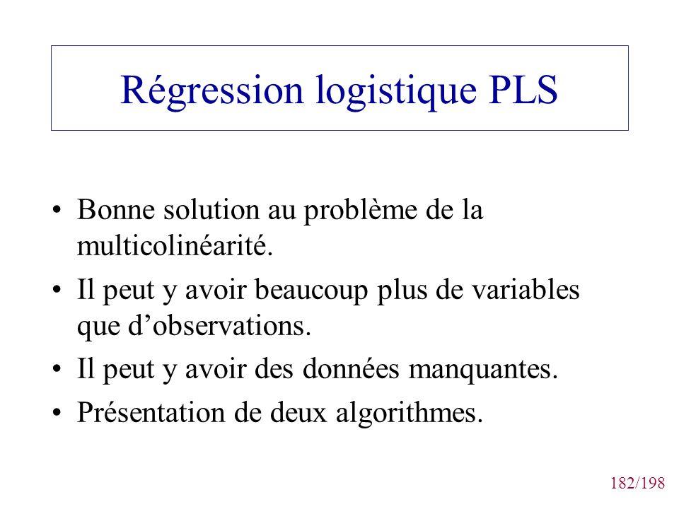 Régression logistique PLS