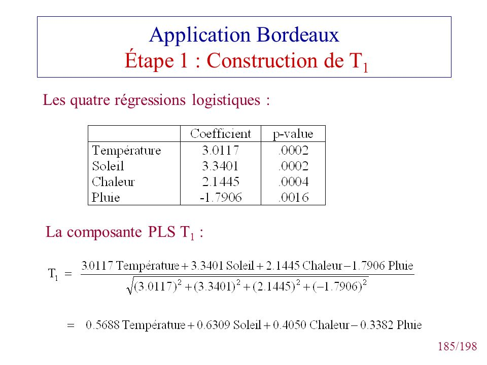 Application Bordeaux Étape 1 : Construction de T1