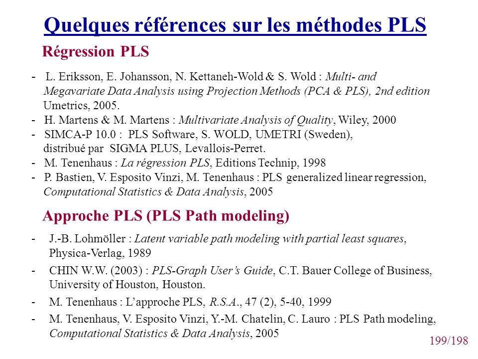 Quelques références sur les méthodes PLS