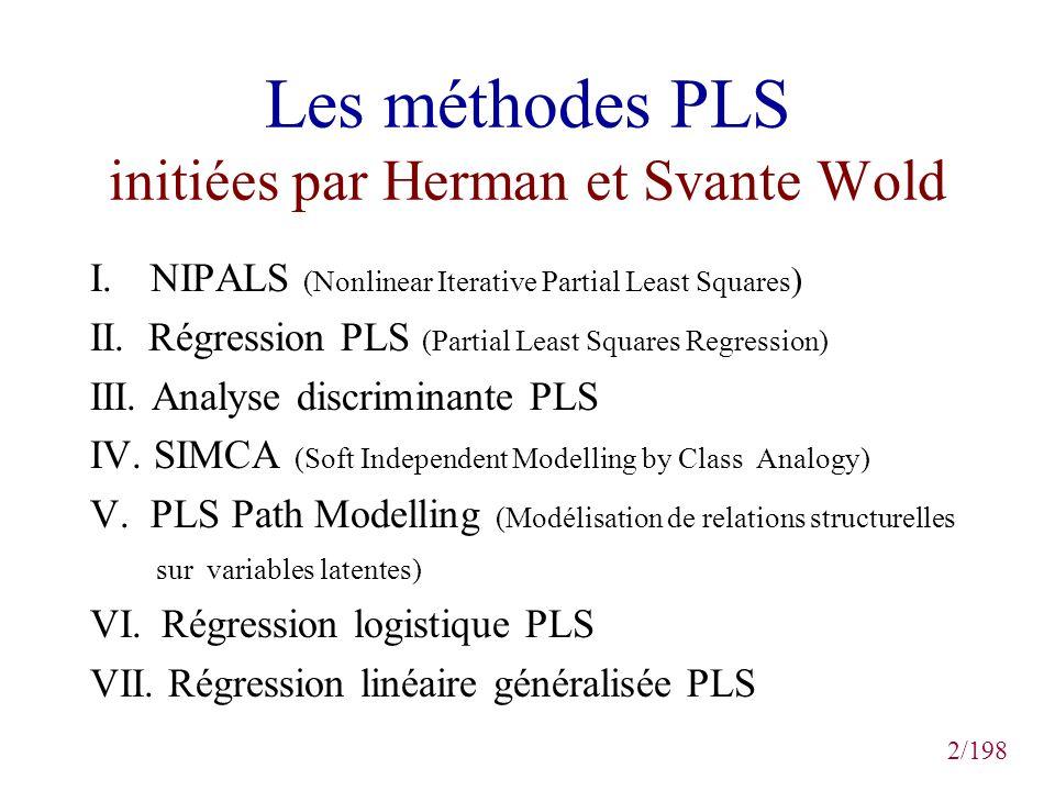 Les méthodes PLS initiées par Herman et Svante Wold