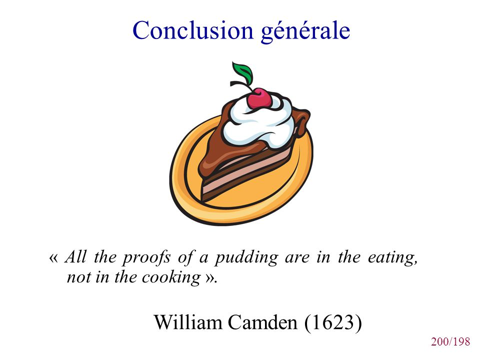 Conclusion générale William Camden (1623)