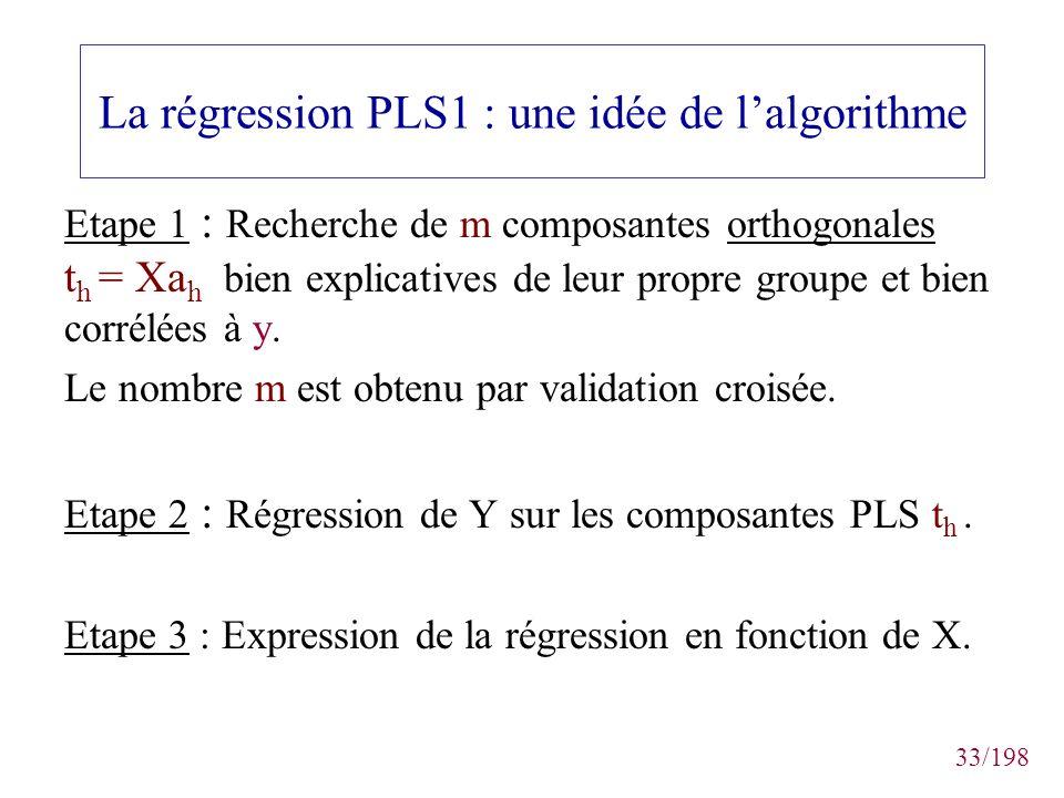 La régression PLS1 : une idée de l'algorithme