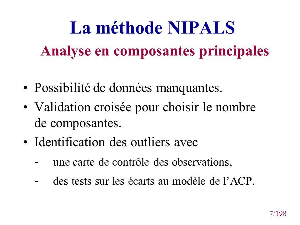 La méthode NIPALS Analyse en composantes principales