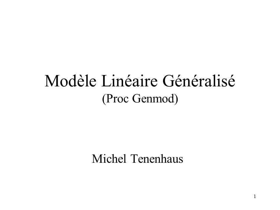 Modèle Linéaire Généralisé (Proc Genmod)