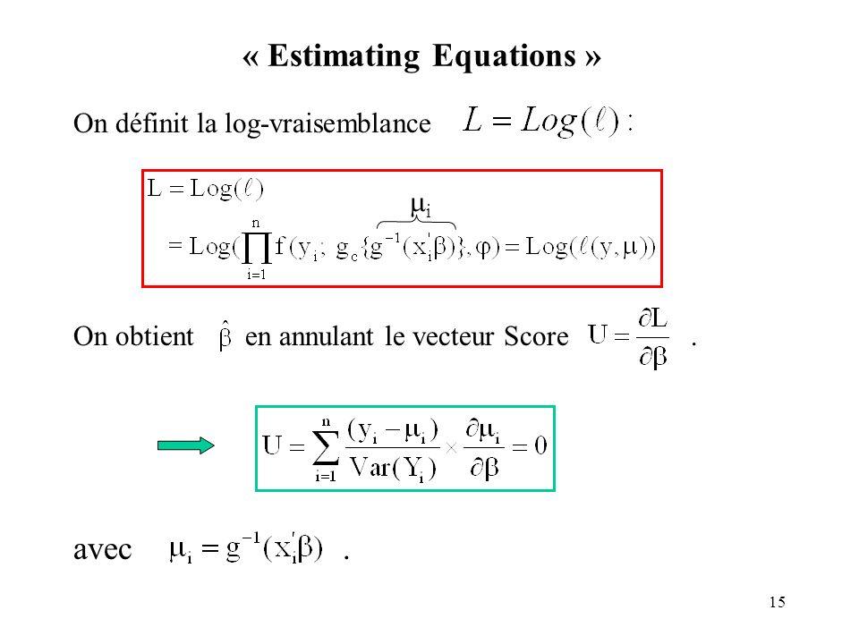« Estimating Equations »