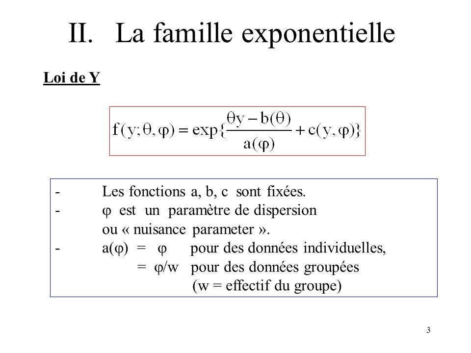 II. La famille exponentielle