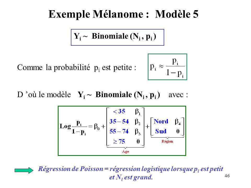 Exemple Mélanome : Modèle 5
