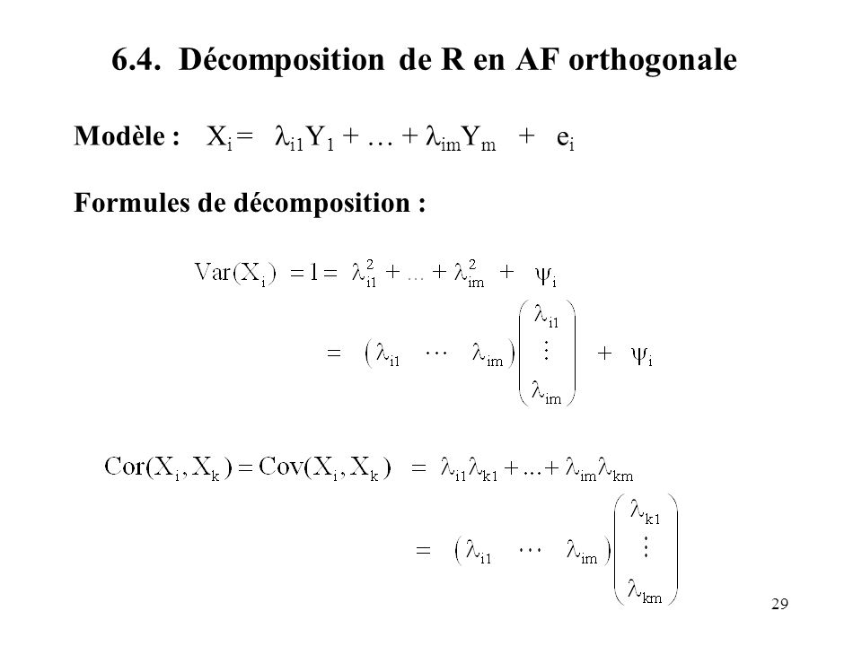 6.4. Décomposition de R en AF orthogonale