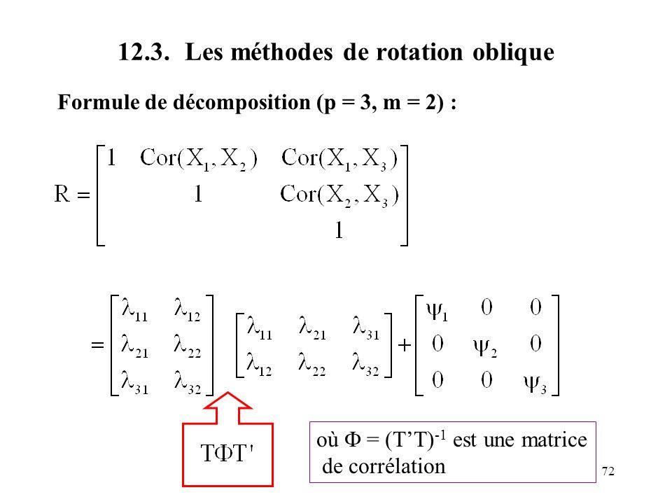 12.3. Les méthodes de rotation oblique