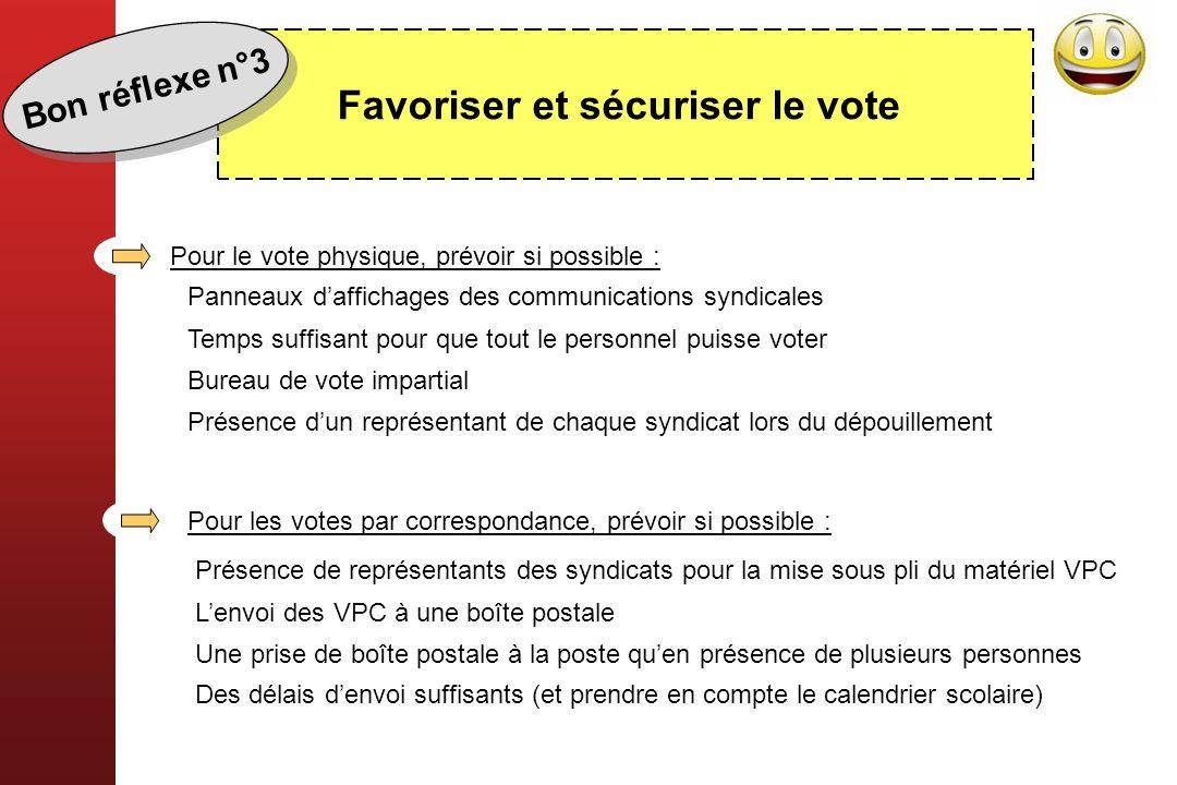 Favoriser et sécuriser le vote