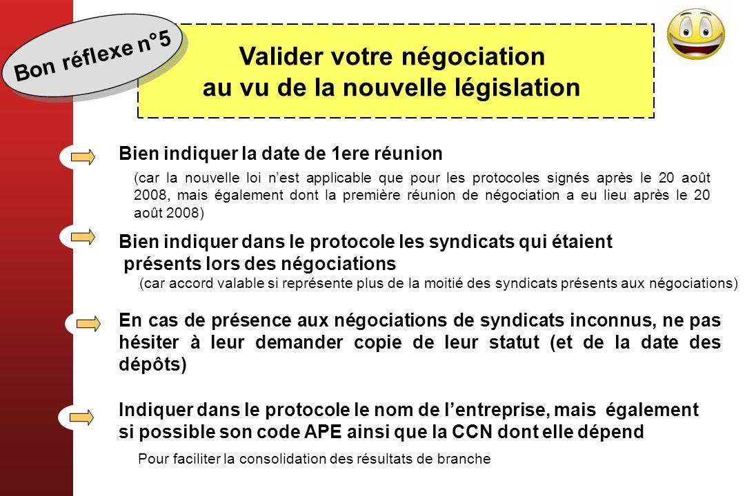 Valider votre négociation au vu de la nouvelle législation